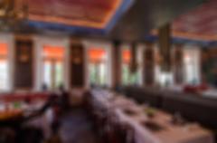 Restaurant blur background - stock photo