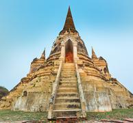 Three stupas in Wat Phra Si Sanphet. Ayutthaya historical park Stock Photos