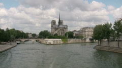 Notre Dame de Paris Cathedral Stock Footage