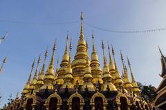 Thailand golden pagoda Stock Photos