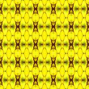 Close up of ripe banana, gold colour seamless - stock illustration
