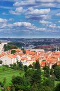 View of  Prague from Hradcany district Stock Photos