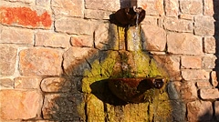 Source of water in the Greek village Stock Footage