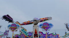Space Roller Ride Stock Footage