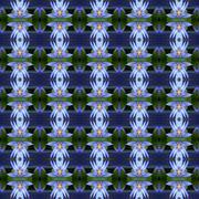 Wonderful of blue lotus seamless Stock Illustration