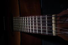 Acoustic Guitar Fingerboard - stock photo
