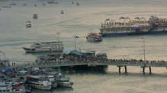 Sunset at marina Bali Hai Pier, South Pattaya, Thailand Stock Footage