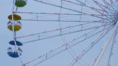 Ferris Wheel Lights Stock Footage