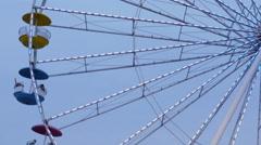 Ferris Wheel in Motion Stock Footage