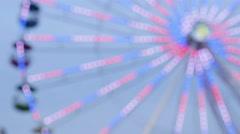 De-focused Ferris Wheel Lights - stock footage