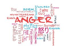 Stock Illustration of Anger multilanguage wordcloud background concept