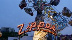 Zipper Ride NJ State Fair Stock Footage