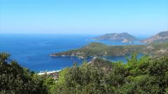 Panorama of coast oludeniz landscape mediterranean sea turkey Stock Footage