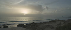 Beach Sunset Stock Footage
