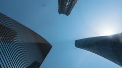 Shanghai three tallest buildings timelapse - stock footage