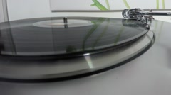 Record player in motion (closeup) Stock Footage
