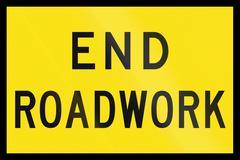 Stock Illustration of End Roadwork in Australia