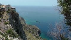 Spain Mallorca Island various 015 restaurant Es Grau viewpoint Stock Footage