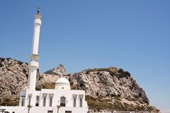 Mosque of Europa Point - stock photo