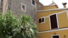 Spain Mallorca Island various 021 Mediterranean style houses in Estellencs Stock Footage