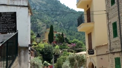 Spain Mallorca Island various 022 view to valley between village houses Stock Footage