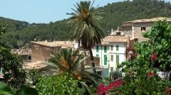 Spain Mallorca Island various 024 idyllic village Estellencs in a valley Stock Footage