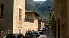 Spain Mallorca Island various 041 beautiful street view in old village Deia Stock Footage