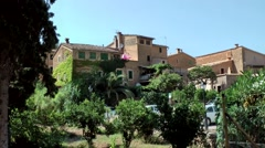 Spain Mallorca Island various 053 spanish house and garden in village Deia Stock Footage