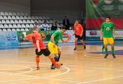 Azerbaijan team (G) versus MGKFS team (O) - stock photo