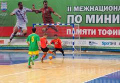 Azerbaijan team (G) versus MGKFS team (O) - stock photo