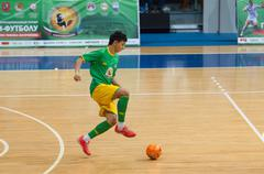Azerbaijan player attack - stock photo