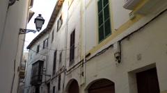 Spain Palma de Mallorca 114 Dalt Murada steep old town alley - stock footage