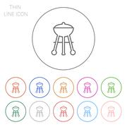Charcoal grill - stock illustration