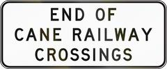 Stock Illustration of End Of Cane Railway Crossings In Australia