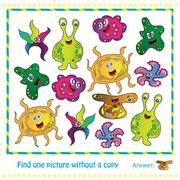 Illustration Educational Game for Children - find picture withuot copy Stock Illustration