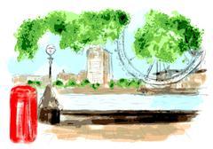 London river Piirros
