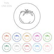 Tomato icon Stock Illustration