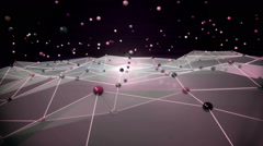 Stock Video Footage of Network cyberspace movement forward