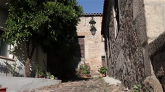 Jewish stone house in Belmonte Stock Footage