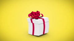 Digital animation of birthday gift exploding and revealing number twenty one Stock Footage