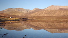 Morning mountain reflection from the Isle of Skye Stock Footage