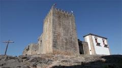 Belmonte castle, slider shot Stock Footage
