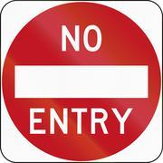 No Entry in Australia Stock Illustration