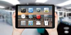 Modern digital tablet - stock illustration
