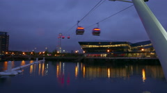 Time lapse of Emirates Airline ropeway London by night Stock Footage
