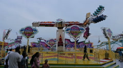 Space Roller In Slow Motion At The Fair Stock Footage