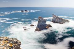 Stock Photo of Seascape of the famous place - Aiguilles de Port-Coton.
