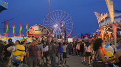 New Jersey State Fair at Twilight Stock Footage