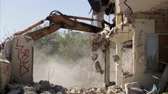Demolishing a house, Sweden. Stock Footage
