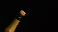 Champagne is being poured in a glass, Sweden. Stock Footage
